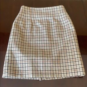 Vintage Wool Blend Plaid Mini Skirt